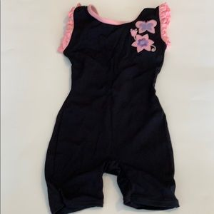 Dance leotard black and pink size 4-5 XS